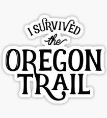 Oregon Trail Survivor Sticker
