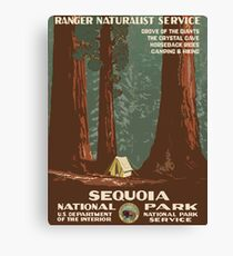 Sequoia National Park Vintage Travel Poster Canvas Print
