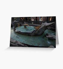 Rome's Fabulous Fountains - Fontana della Barcaccia, Spanish Steps  Greeting Card