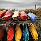 Colourful Canoe's by Annette Blattman