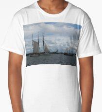 Tall Ships Sailing in the Harbor Long T-Shirt