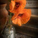 Two Poppies in a Vase by Ann Garrett