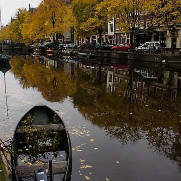 Autumn in Amsterdam - the Abandoned Boat by GeorgiaM