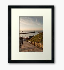 199 Steps Whitby Framed Print