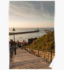 199 Steps Whitby Poster