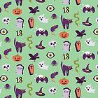 Halloween Mint Pattern by Elizabeth Levesque