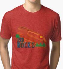 Red Rocks Tri-blend T-Shirt