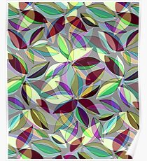 Abstract Leaves Poster