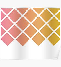 Pink and Gold Pattern Poster
