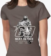 nicky hayden 69 Womens Fitted T-Shirt