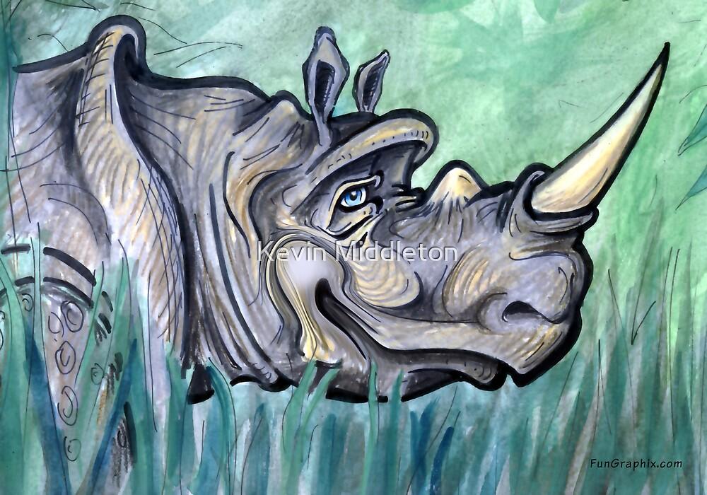 Rhino by Kevin Middleton