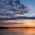 One Fine View - Rainbow Colored Skies Over Toronto at Dawn by Georgia Mizuleva