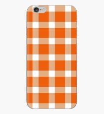 Plaid Persimmon Orange iPhone Case
