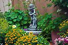 Backyard Garden Summer Scene  by Sandra Foster