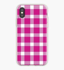 Plaid Hot Pink iPhone Case