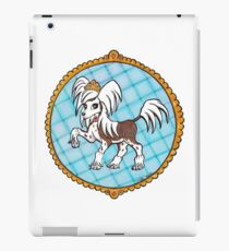 Eleanie the Chinese Crested - Blue iPad Case/Skin