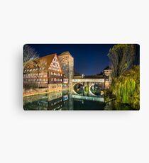 Nuremberg by night Canvas Print