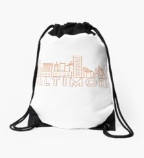 Baltimore Maryland Drawstring Bag