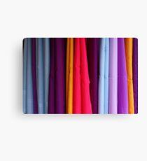 colored fabrics Canvas Print