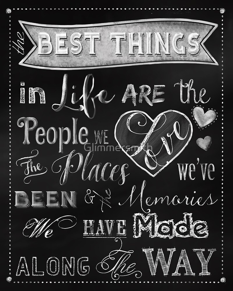 The Best Things in Life chalkboard wall decor by Glimmersmith