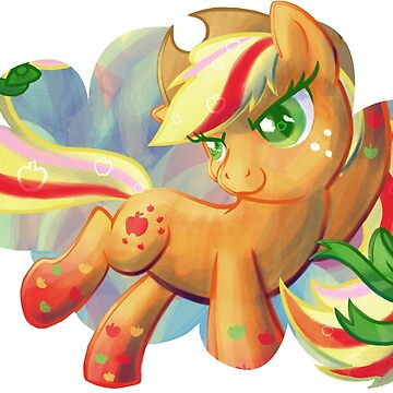Rainbow Power Applejack by GhostlyMuse