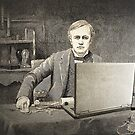 XIX century scientist with my laptop by gameover