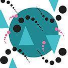 Blue Bubble Pattern by GrimalkinStudio