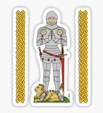 English Knight Circa 1430 Sticker