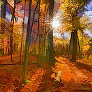 Brilliant, Colorful Autumn Forest Impression by Georgia Mizuleva