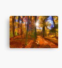 Brilliant, Colorful Autumn Forest Impression Canvas Print