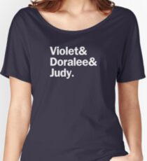 9 to 5 Characters | White Women's Relaxed Fit T-Shirt