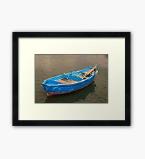 Bari Italy Fisherman's Boat in the sea Framed Print