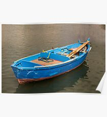 Bari Italy Fisherman's Boat in the sea Poster