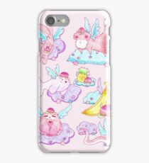 Peach Fruit Angel Animals iPhone Case/Skin