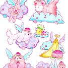 Peach Fruit Angel Animals by SaradaBoru