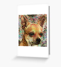 Psychedelic Chihuahua Greeting Card