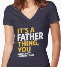 Father Thing Women's Fitted V-Neck T-Shirt
