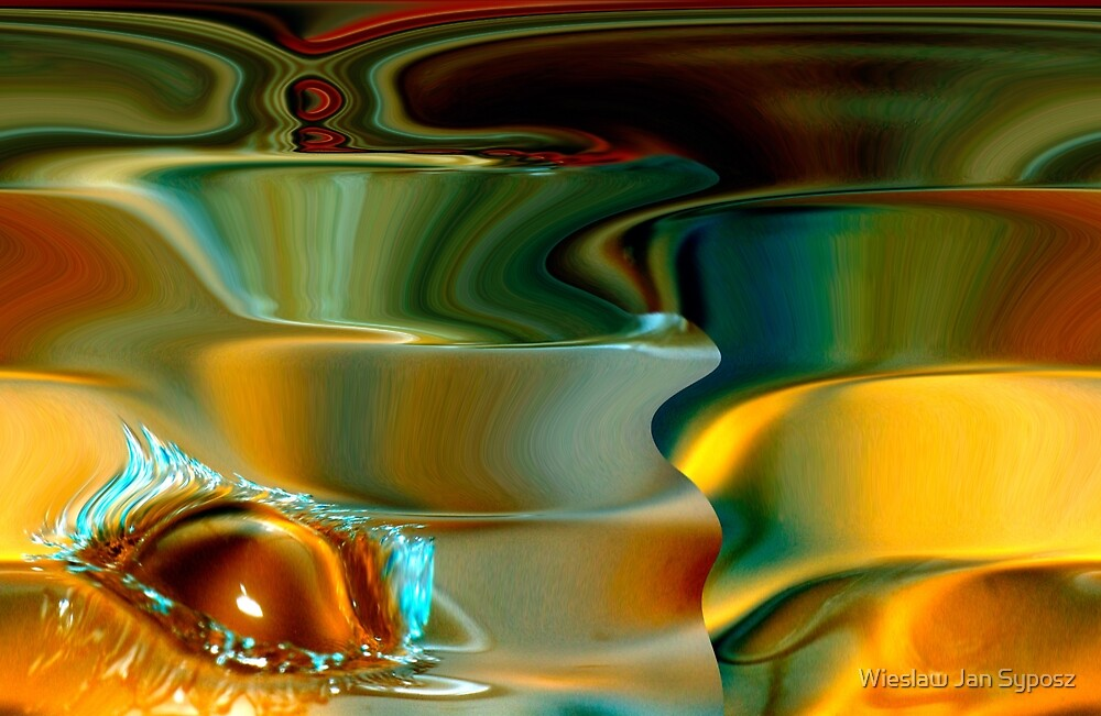 spirals & the water drop by Wieslaw Jan Syposz