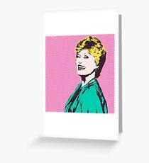 Over The Shoulder Smile Greeting Card