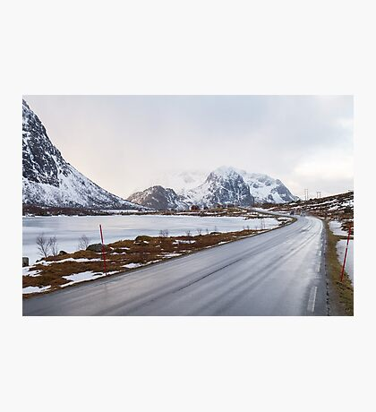 The road in the mountains Photographic Print