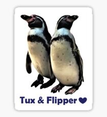 Tux & Flipper <3 Sticker