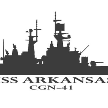USS Arkansas CGN-41 Silhouette in gray by jdmosher