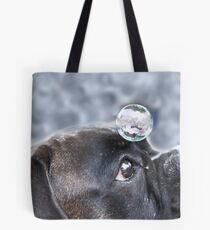 Bubble On My Head -Boxer Dogs Series-  Tote Bag