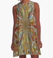 Digital Pattern that looks like Glass  A-Line Dress