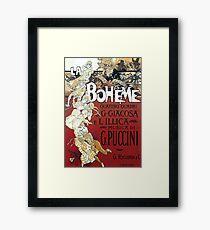La Boheme Vintage Framed Print