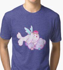 Peach Fruit Angel Seal Tri-blend T-Shirt