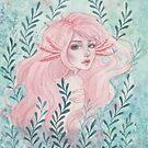 Axolotl girl by ARiAillustr