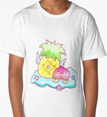Pineapple and Peach Fruit Angels Long T-Shirt