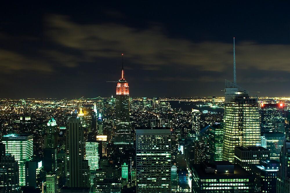 Manhattan At Night by Michael Walton