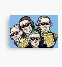 Founding Father Dudes Canvas Print